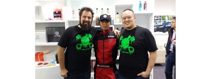 chemical guys shop green skull shirt 2