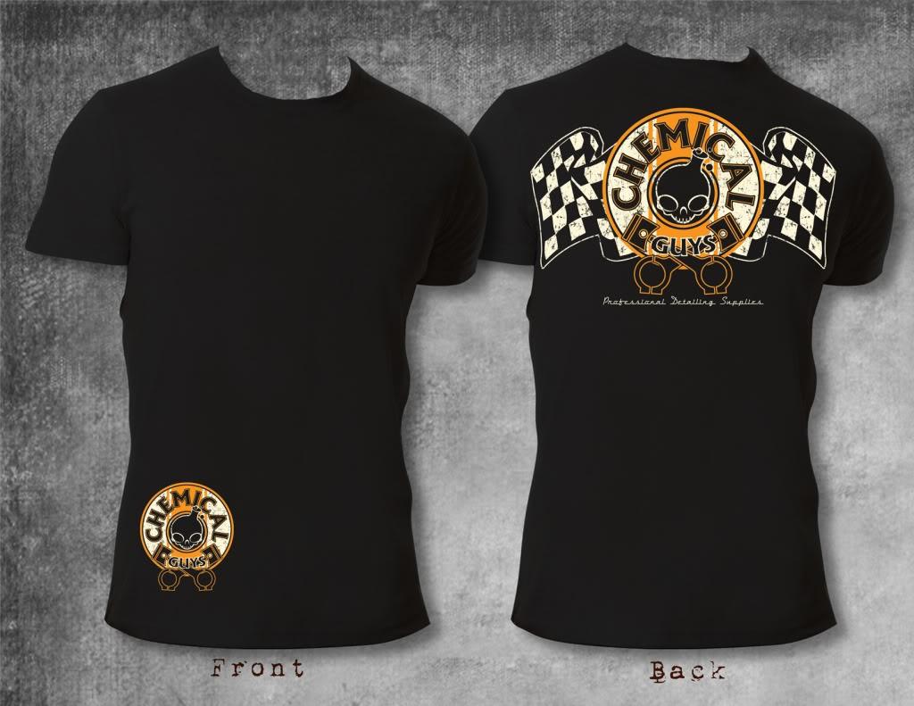 chemical guys shop black vintage crew shirt