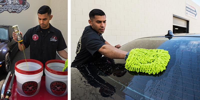 chemical guys shop clean slate stark reinigendes Shampoo mit synthetischen Gleitmitteln 473ml 3