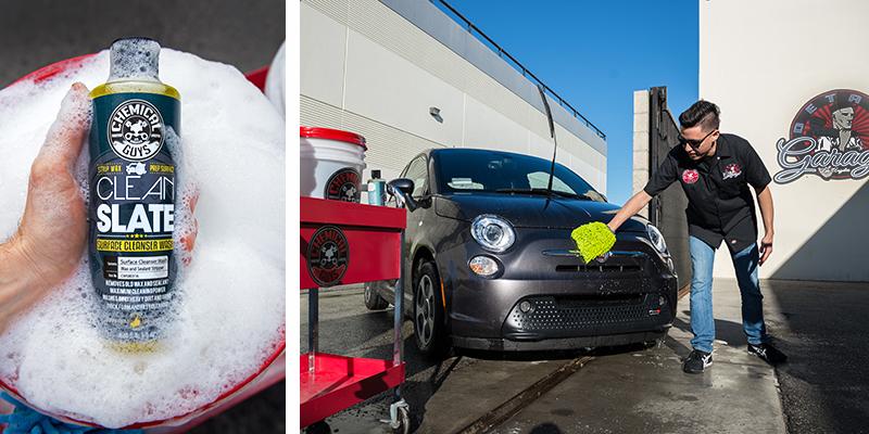 chemical guys shop clean slate stark reinigendes Shampoo mit synthetischen Gleitmitteln 473ml 4