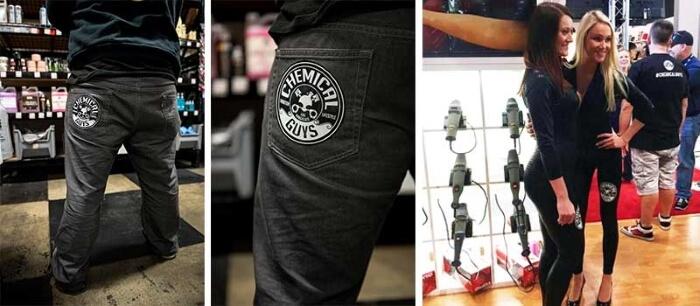 chemical guys shop deutschland Button Aufkleber 125mm Durchmesser 4