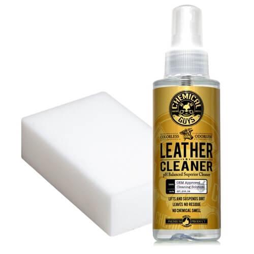chemical guys shop deutschland lederreinigungsset leder reinigen leather cleaner melaminschwamm 118ml